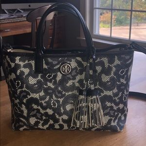 Tory Burch floral detail purse